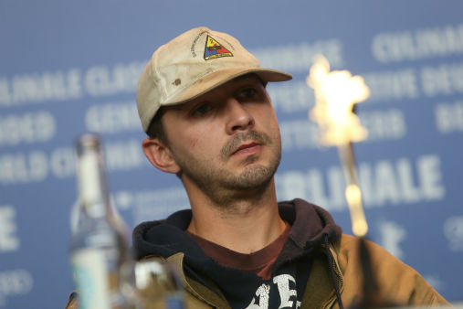 Actor Shia LaBeouf discusses the film Nymphomaniac during the 64th Berlinale International Film Festival on Feb. 9, 2014, in Berlin. <span class=meta>AP Photo/ Joel Ryan</span>