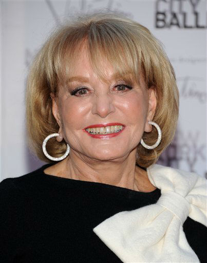 Barbara Walters arrives at the New York City Ballet Fall Gala honoring fashion designer Valentino Garavani at Lincoln Center on Thursday, Sept. 20, 2012 in New York. <span class=meta></span>