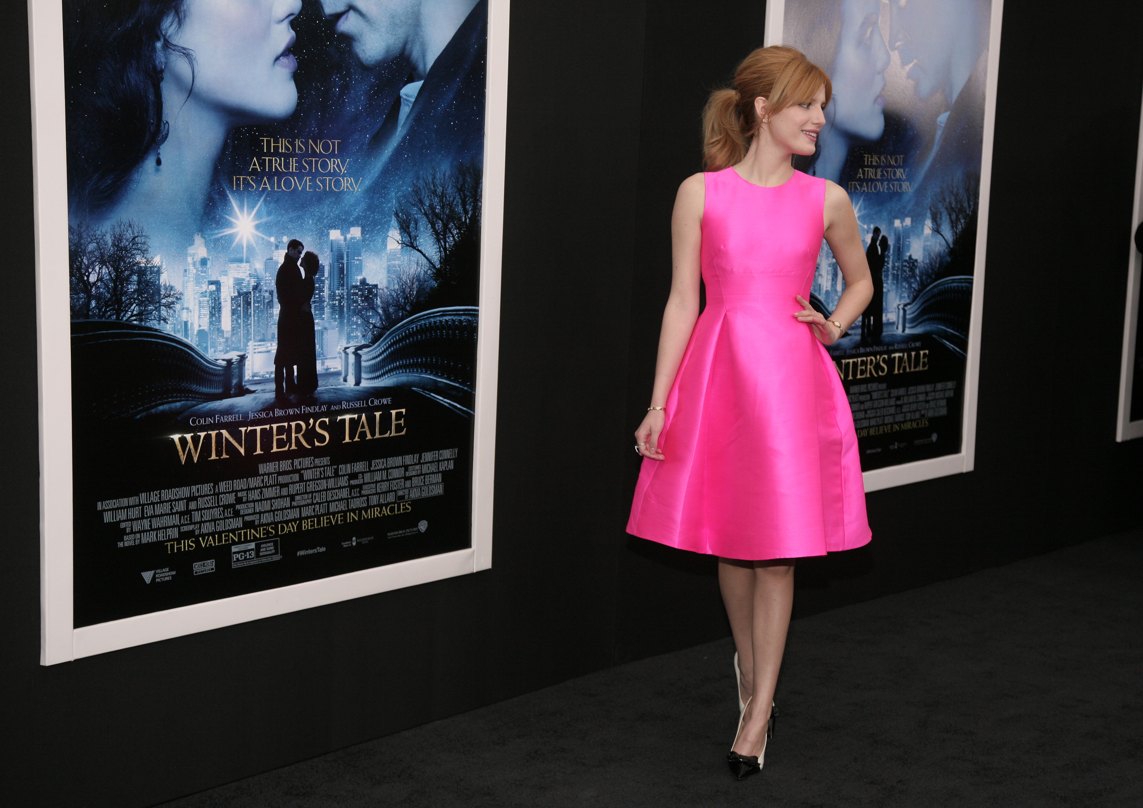 <div class='meta'><div class='origin-logo' data-origin='AP'></div><span class='caption-text' data-credit='Andy Kropa /Invision/AP'>Actress Bella Thorne attends the world premiere of &#34;Winter's Tale&#34; on Tuesday, Feb. 11, 2014 in New York. (Photo by Andy Kropa/Invision/AP)</span></div>