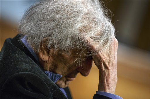 <div class='meta'><div class='origin-logo' data-origin='AP'></div><span class='caption-text' data-credit='J. Scott Applewhite'>Nobel Peace Prize laureate Elie Wiesel, a survivor of the Holocaust, listens as he is introduced to participate in a dialogue with Sen. Ted Cruz, R-Texas</span></div>