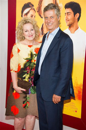 "Juliet Blake and Lasse Hallstrom attend ""The Hundred-Foot Journey"" premiere on Monday, August 4, 2014 in New York. (Photo by Charles Sykes/Invision/AP)"