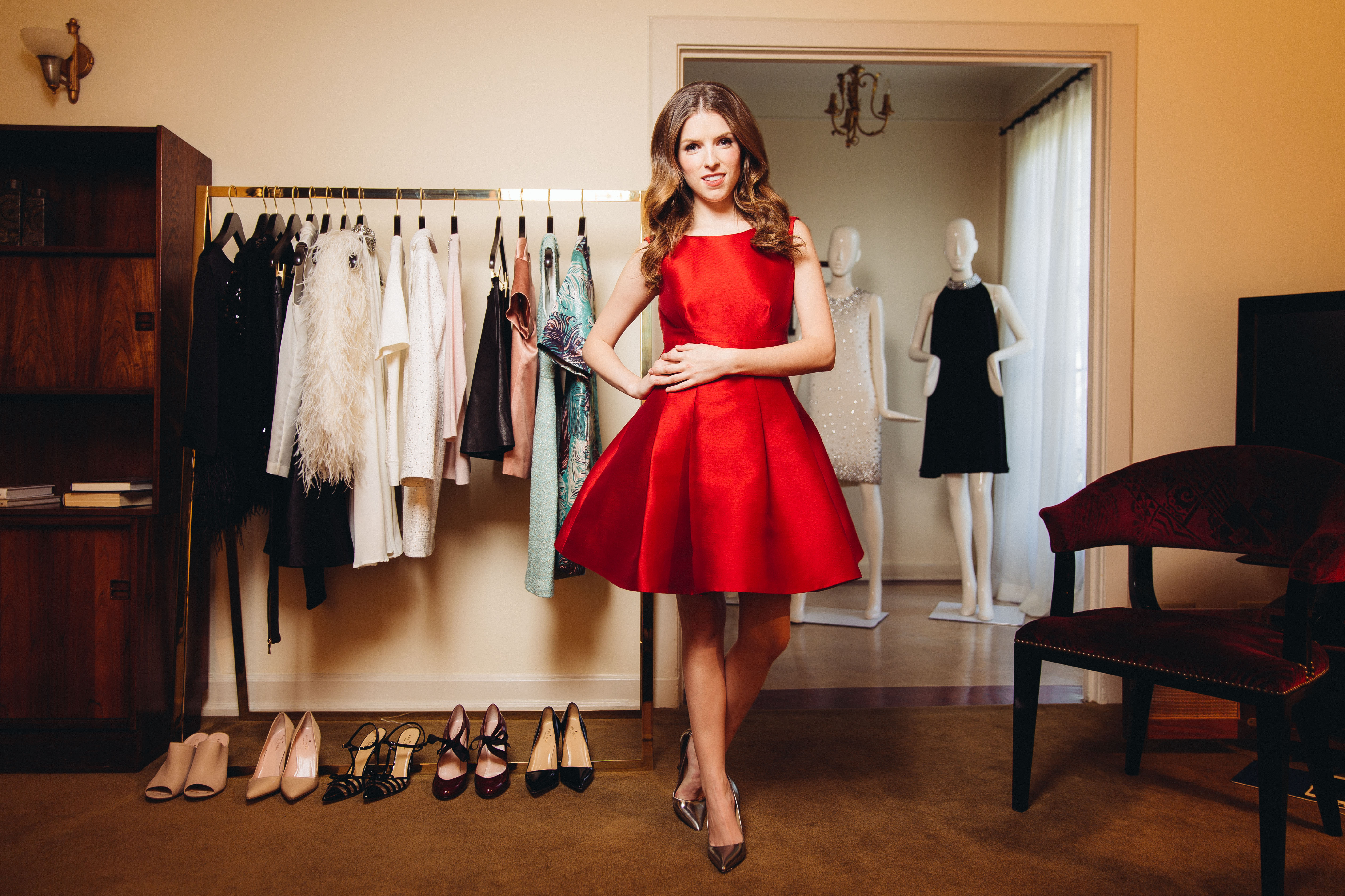 <div class='meta'><div class='origin-logo' data-origin='AP'></div><span class='caption-text' data-credit='Casey Curry/Invision/AP'>In this Friday, Oct. 3, 2014 photo, Anna Kendrick posesin West Hollywood, Calif. Her red, sleeveless party dress is from Kate Spade New York's holiday collection</span></div>