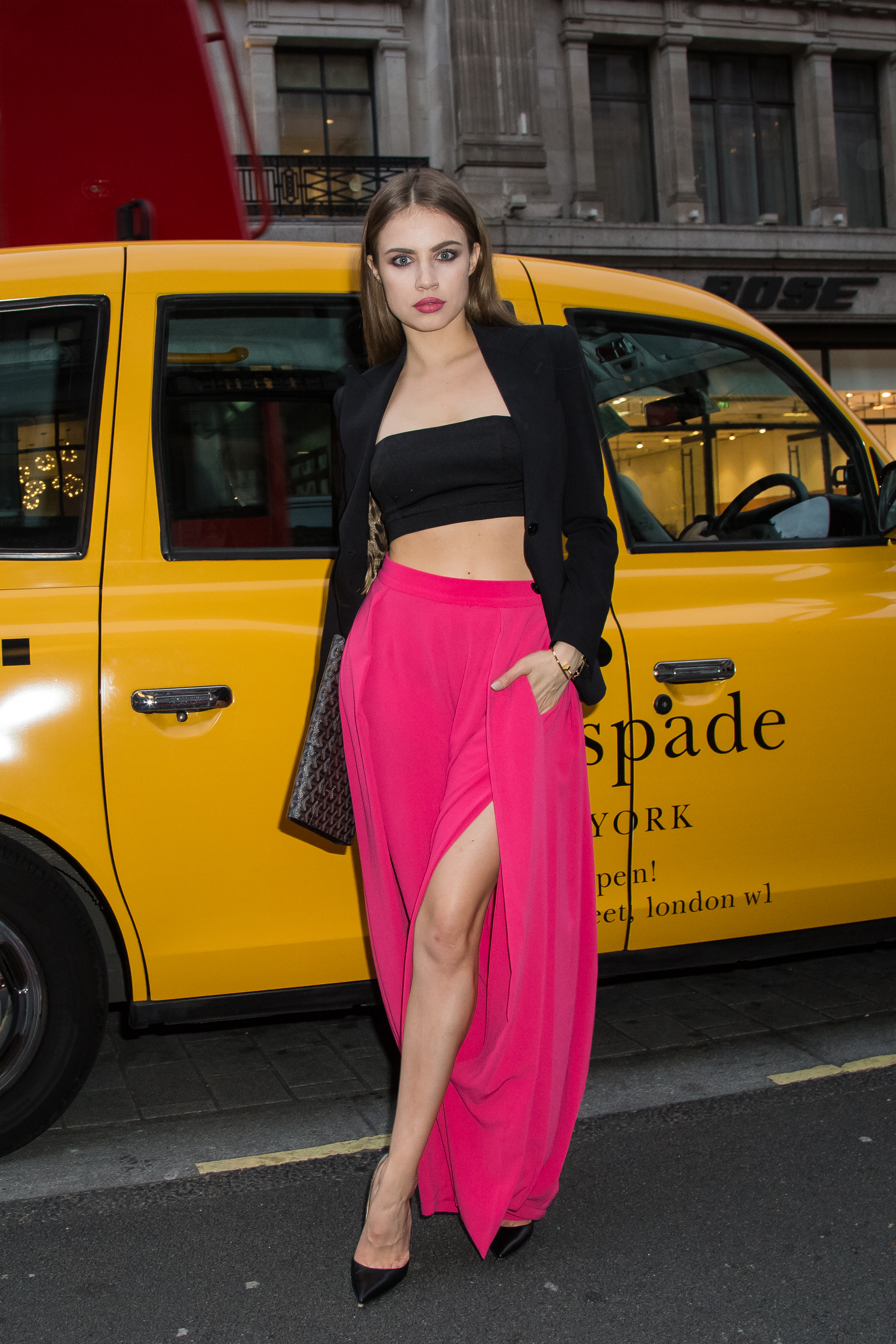 <div class='meta'><div class='origin-logo' data-origin='AP'></div><span class='caption-text' data-credit='Vianney Le Caer/Invision/AP'>Xenia Tchoumitcheva poses for photographers upon arrival at the Kate Spade New York flagship store opening party in London, Thursday, April 21, 2016.</span></div>