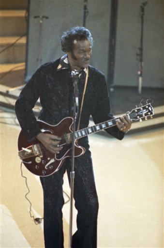 <div class='meta'><div class='origin-logo' data-origin='AP'></div><span class='caption-text' data-credit='AP'>Musician Chuck Berry shown performing at the Grammy Awards, Feb. 28, 1984, Los Angeles, Calif. (AP Photo/Reed Saxon)</span></div>