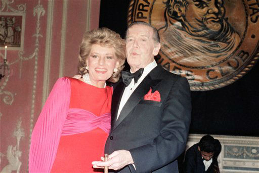 Barbara with Milton Berle on April 20, 1985. (AP Photo/Nancy Kaye) <span class=meta></span>