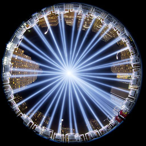 "<div class=""meta image-caption""><div class=""origin-logo origin-image none""><span>none</span></div><span class=""caption-text"">In a photo made with a fisheye lens, the Tribute in Light rises above buildings in lower Manhattan, during a test, Tuesday, Sept. 10, 2013. (AP Photo/ Mark Lennihan)</span></div>"