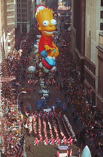 <div class='meta'><div class='origin-logo' data-origin='none'></div><span class='caption-text' data-credit=''>Bart Simpson makes his debut on his skateboard in the 64th annual Macy's Thanksgiving Day Parade down Broadway in New York City, Thursday, Nov. 22, 1990.</span></div>