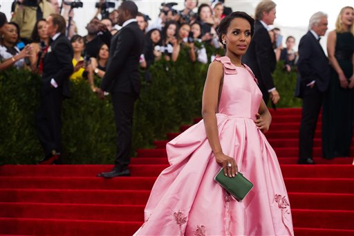 """<div class=""""meta image-caption""""><div class=""""origin-logo origin-image ap""""><span>AP</span></div><span class=""""caption-text"""">Kerry Washington arrives at The Metropolitan Museum of Art's Costume Institute benefit gala on Monday, May 4, 2015, in New York. (Charles Sykes/Invision/AP)</span></div>"""