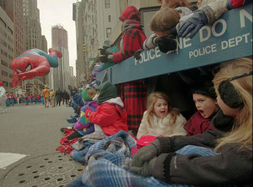 <div class='meta'><div class='origin-logo' data-origin='none'></div><span class='caption-text' data-credit=''>The Spider-Man balloon makes its way down Broadway during Macy's 69th annual Thanksgiving Day parade in New York Thursday, Nov. 23, 1995.</span></div>