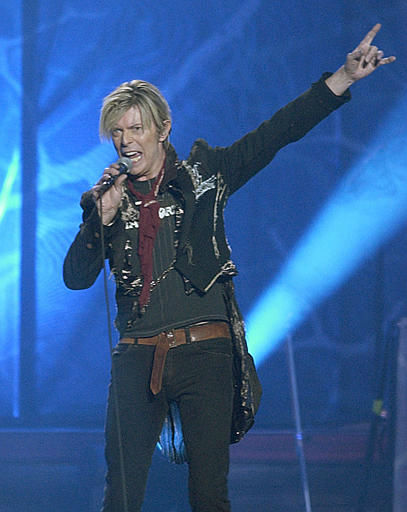 <div class='meta'><div class='origin-logo' data-origin='none'></div><span class='caption-text' data-credit='AP Photo/ KATHY WILLENS'>David Bowie performing at Madison Square Garden,  Monday, Dec. 15, 2003, in New York. (AP Photo/Kathy Willens)</span></div>