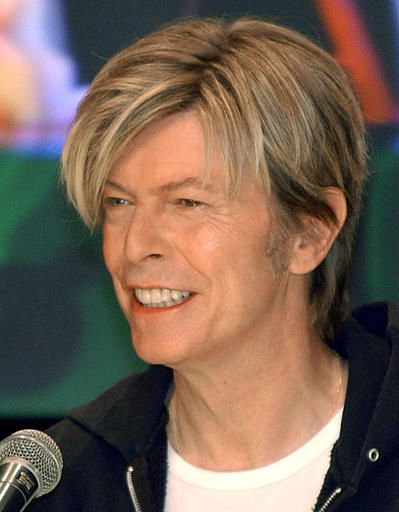 <div class='meta'><div class='origin-logo' data-origin='none'></div><span class='caption-text' data-credit='AP Photo/ KOJI SASAHARA'>British rock legend David Bowii during a press conference in Tokyo Monday, March 8, 2004 (AP Photo/Koji Sasahara)</span></div>