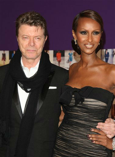 <div class='meta'><div class='origin-logo' data-origin='none'></div><span class='caption-text' data-credit='AP Photo/ Peter Kramer'>Iman and David Bowie attends the 2010 CFDA Fashion Awards in New York on Monday, June 7, 2010. (AP Photo/Peter Kramer)</span></div>