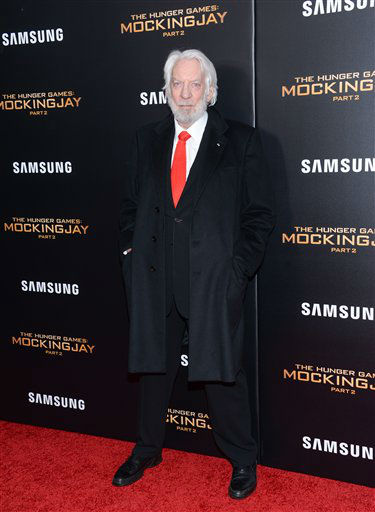 """<div class=""""meta image-caption""""><div class=""""origin-logo origin-image none""""><span>none</span></div><span class=""""caption-text"""">Donald Sutherland attends a special screening of """"The Hunger Games: Mockingjay Part 2"""" in New York. </span></div>"""