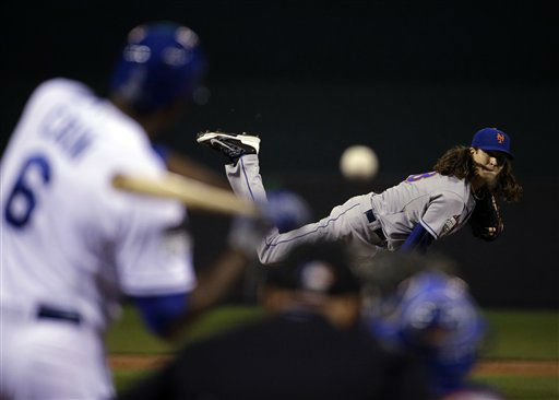 "<div class=""meta image-caption""><div class=""origin-logo origin-image none""><span>none</span></div><span class=""caption-text"">New York Mets pitcher Jacob deGrom throws during the first inning of Game 2. (AP Photo/ David Goldman)</span></div>"