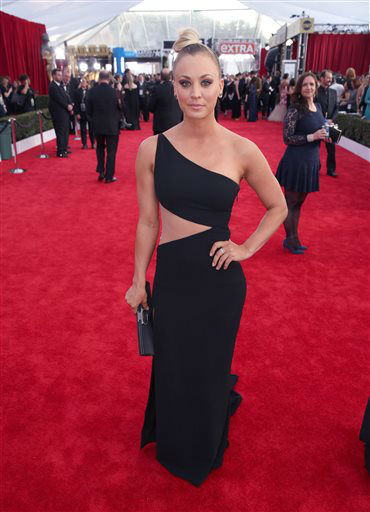 """<div class=""""meta image-caption""""><div class=""""origin-logo origin-image none""""><span>none</span></div><span class=""""caption-text"""">Kaley Cuoco arrives at the 22nd annual Screen Actors Guild Awards.  (Photo by Matt Sayles/Invision/AP) (Photo/Matt Sayles)</span></div>"""