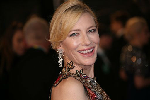 """<div class=""""meta image-caption""""><div class=""""origin-logo origin-image none""""><span>none</span></div><span class=""""caption-text"""">Actress Cate Blanchett poses for photographers upon arrival.  (Joel Ryan/Invision)</span></div>"""