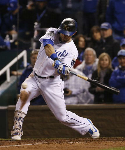 "<div class=""meta image-caption""><div class=""origin-logo origin-image none""><span>none</span></div><span class=""caption-text"">Royals' Alex Gordon hits and RBI double during the eighth inning. (AP Photo/Matt Slocum)  (AP Photo/ Matt Slocum)</span></div>"
