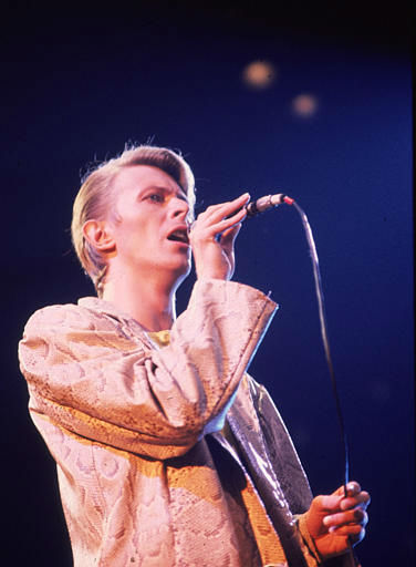 <div class='meta'><div class='origin-logo' data-origin='none'></div><span class='caption-text' data-credit='AP Photo/ BRIAN KILLIGREW'>British rock singer, David Bowie,  shown performing at a New York concert in May 1978.  (AP Photo/Brian Killigrew)</span></div>