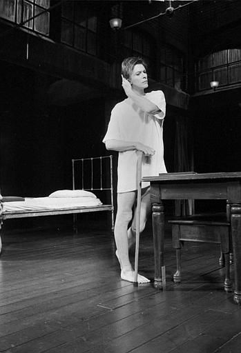 <div class='meta'><div class='origin-logo' data-origin='none'></div><span class='caption-text' data-credit='AP Photo/ MARTY LEDERHANDLER'>David Bowie is seen during rehearsals for the Broadway play &#34;The Elephant Man,&#34; Sept. 17, 1980, in which he plays the title role.  (AP Photo/Marty Lederhandler)</span></div>