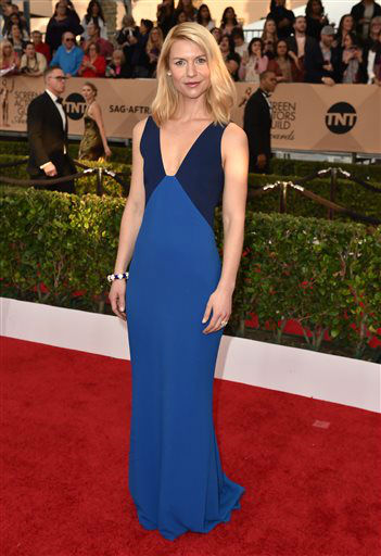 """<div class=""""meta image-caption""""><div class=""""origin-logo origin-image none""""><span>none</span></div><span class=""""caption-text"""">Claire Danes arrives at the 22nd annual Screen Actors Guild Awards. (Photo by Jordan Strauss/Invision/AP) (Photo/Jordan Strauss)</span></div>"""