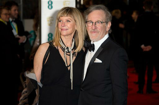 "<div class=""meta image-caption""><div class=""origin-logo origin-image none""><span>none</span></div><span class=""caption-text"">Steven Spielberg and Kate Capshaw pose for photographers upon arrival.  (Jonathan Short )</span></div>"