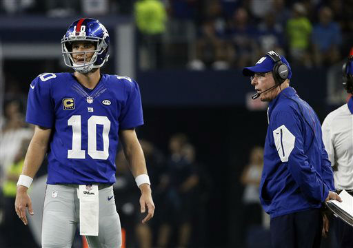 "<div class=""meta image-caption""><div class=""origin-logo origin-image none""><span>none</span></div><span class=""caption-text"">Giants quarterback Eli Manning and coach Tom Coughlin stand on the field late in the second half against the Dallas Cowboys in 2015. (AP Photo/ Tony Gutierrez)</span></div>"