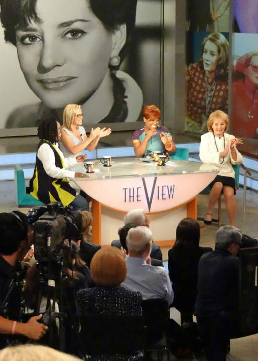 Behind the scenes of Barbara Walters&#39; last day on The View. <span class=meta>(WABC Photo&#47; Sandy Kenyon)</span>