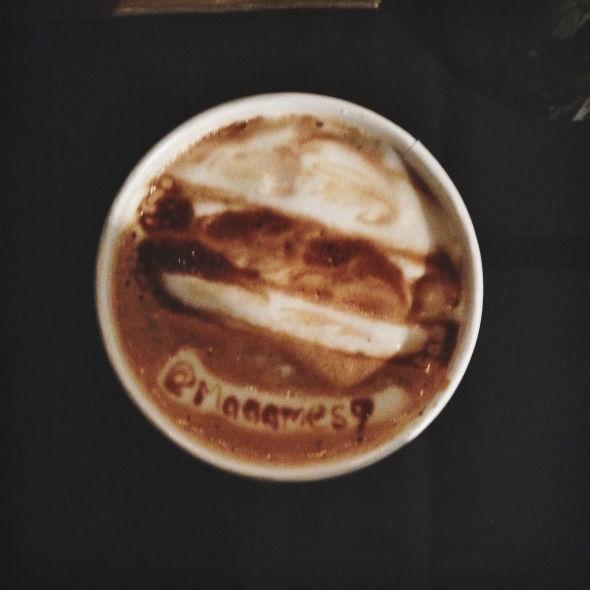 Coffee Artist Creates Latte Art In Midtown For