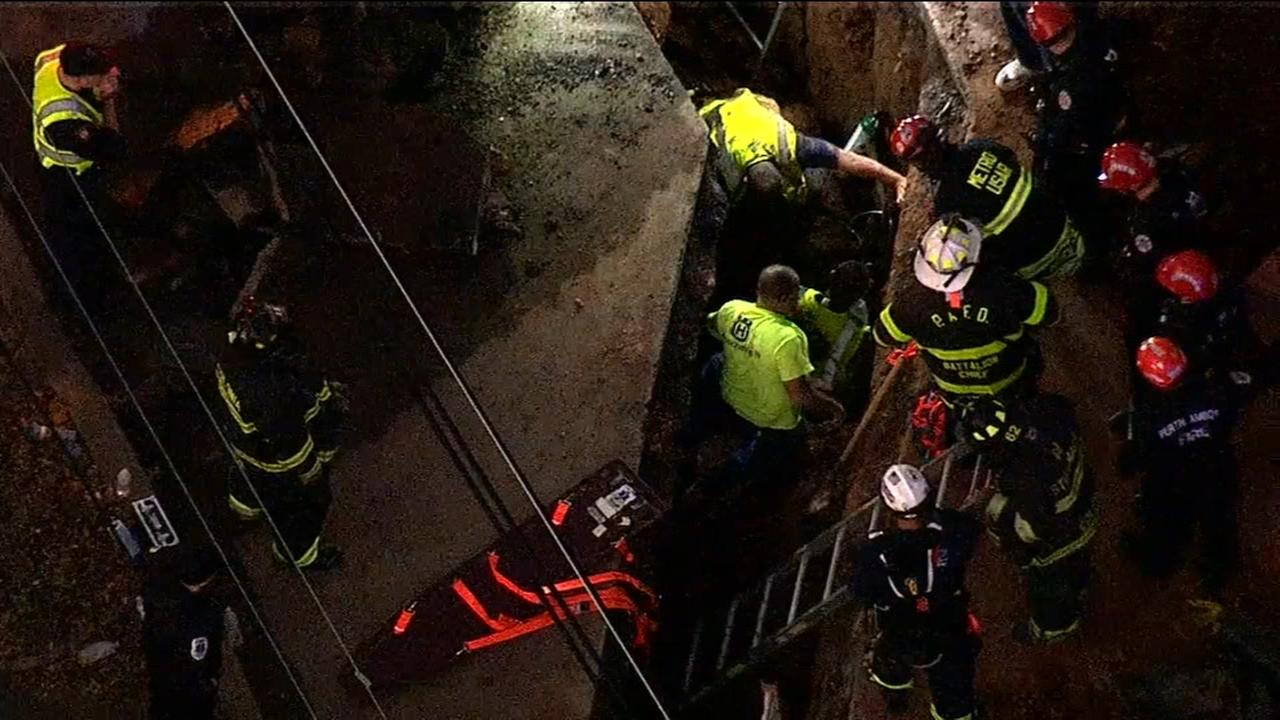 Construction worker recovering after getting trapped in trench in NJ