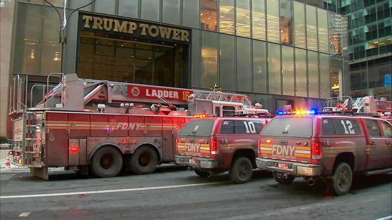 Small fire on roof of Trump Tower building in Midtown, 2 minor injuries