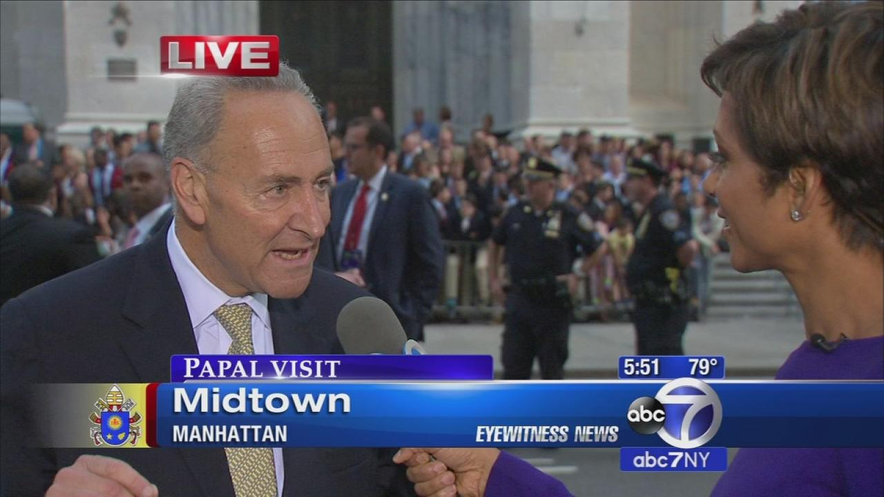 Sen. Schumer talks about popes visit