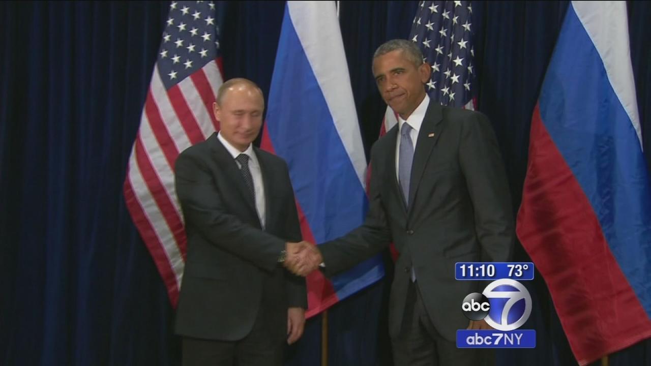 Tense meeting between Putin and Obama