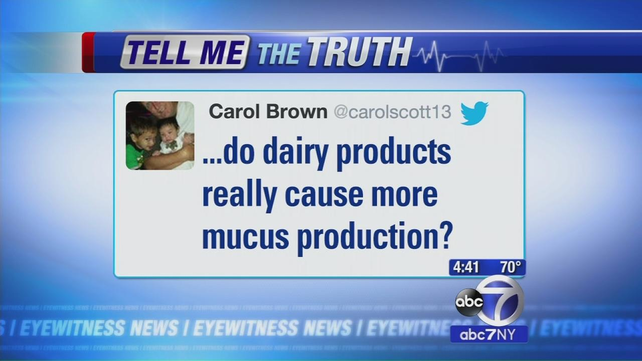 Tell Me The Truth: Do dairy products cause mucus?