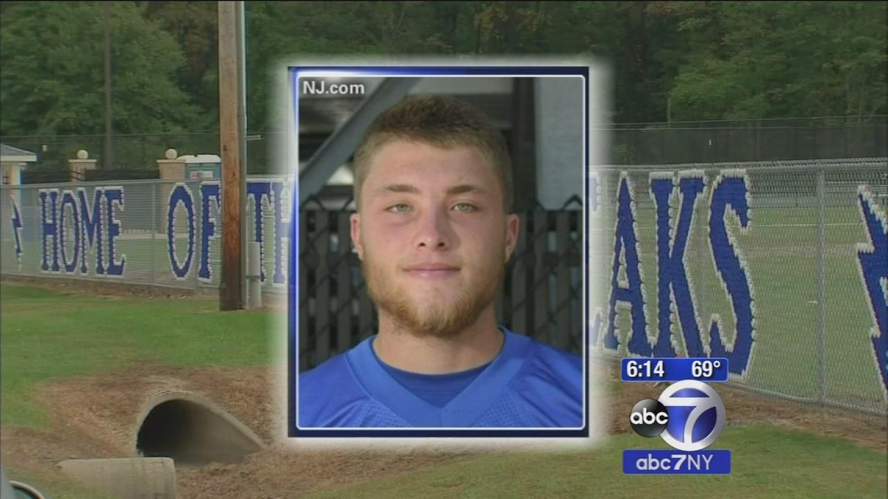 Wake held for NJ high school quarterback who died after being hurt in game