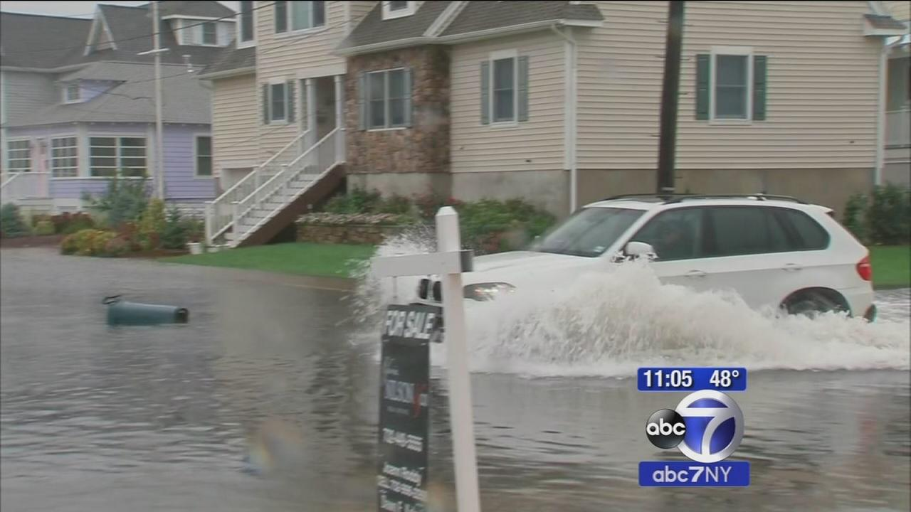 Heavy rain creates flooding along the Jersey Shore