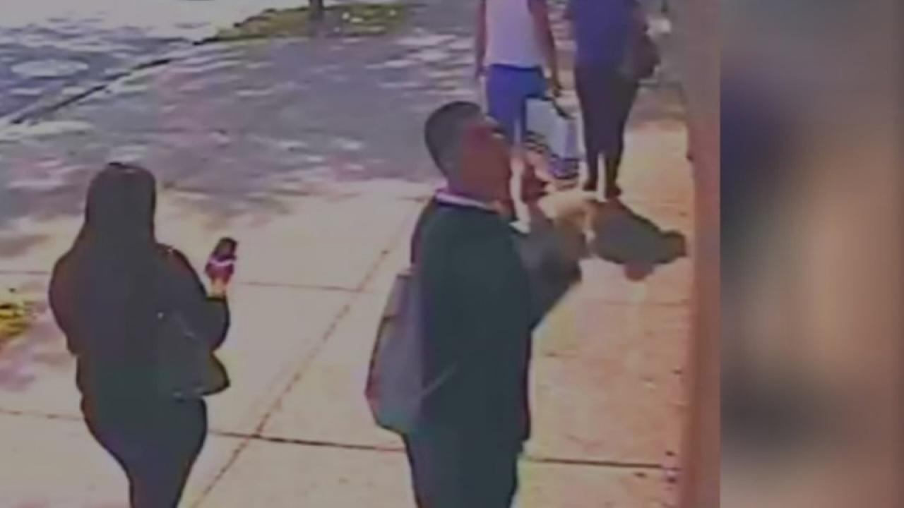 Caught on camera: Man flicking cigarette toward site of fire