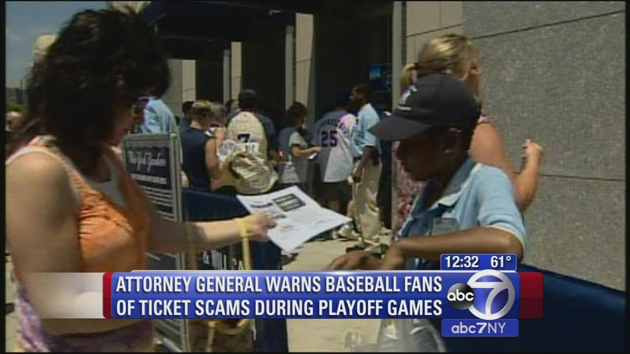 NY baseball fans warned about ticket scams