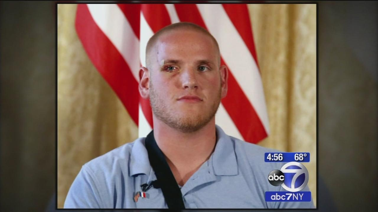 Airman who helped stop gunman on train in Europe stabbed in Cali.