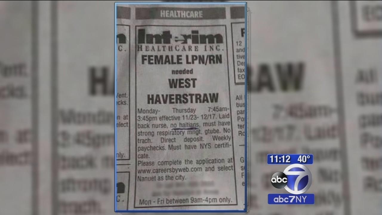 Rockland County job ad say no Haitians need apply
