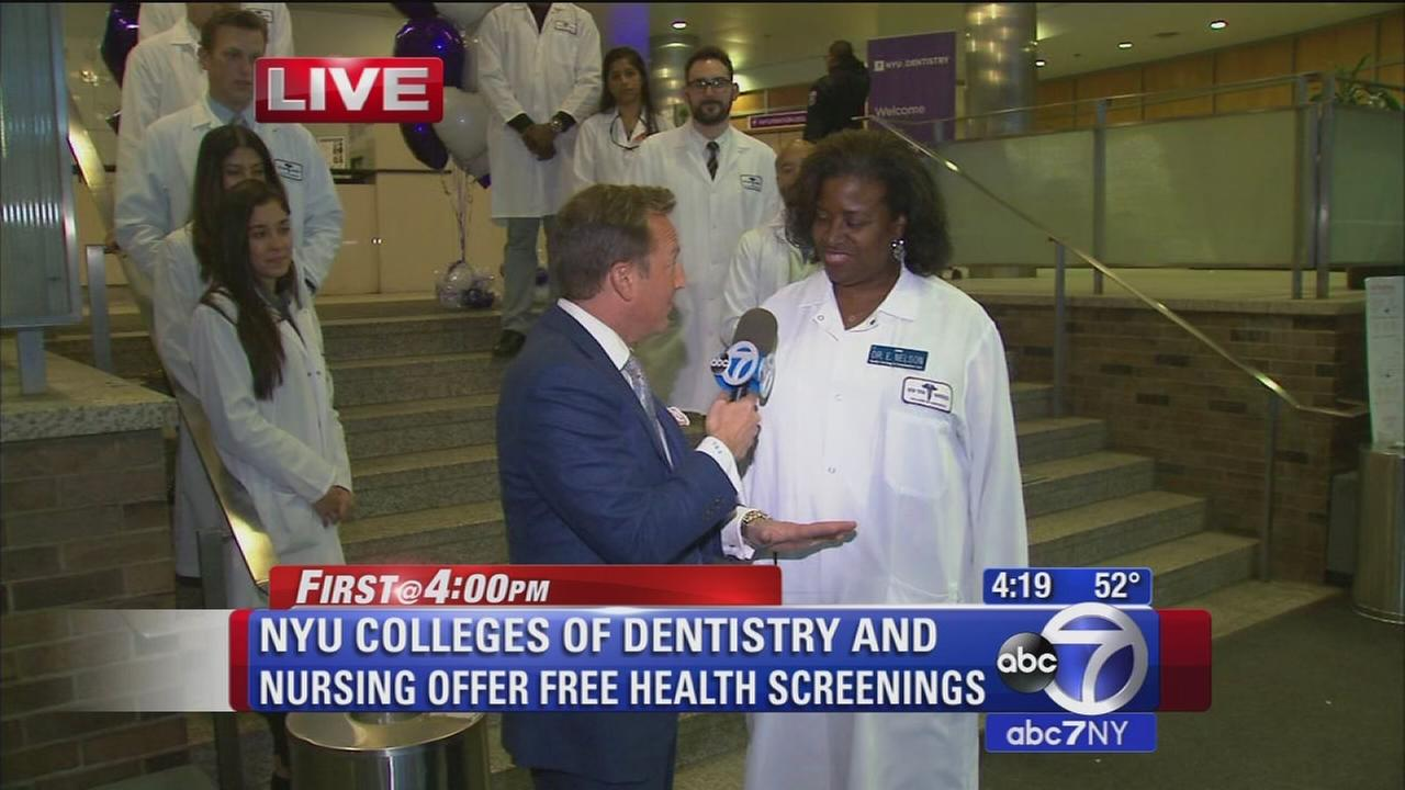 NYU Colleges of Dentistry and Nursing offer free health screenings