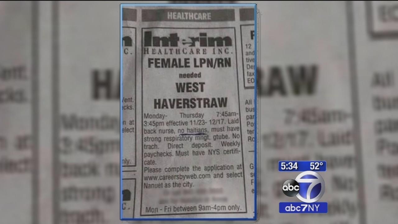 Interim Healthcare responds to Rockland no Haitians job advertisement