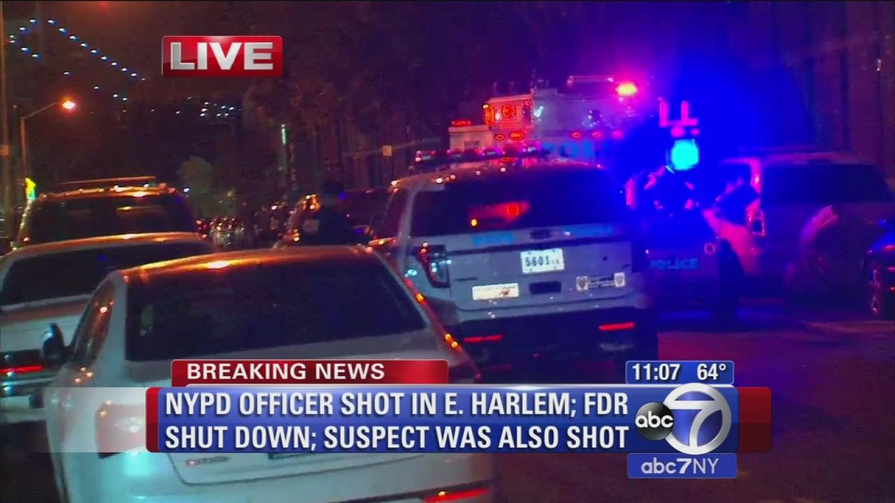 Police investigate scene of initial shots fired in East Harlem