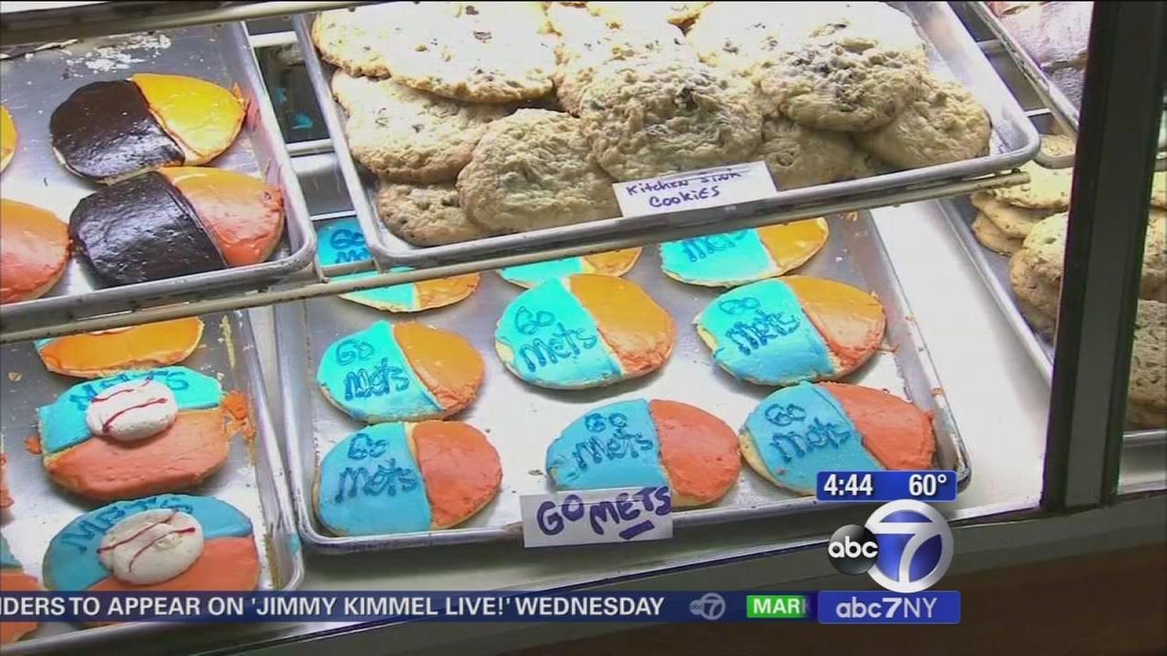 Glasers Bake Shop on Upper East Side selling Mets cookies