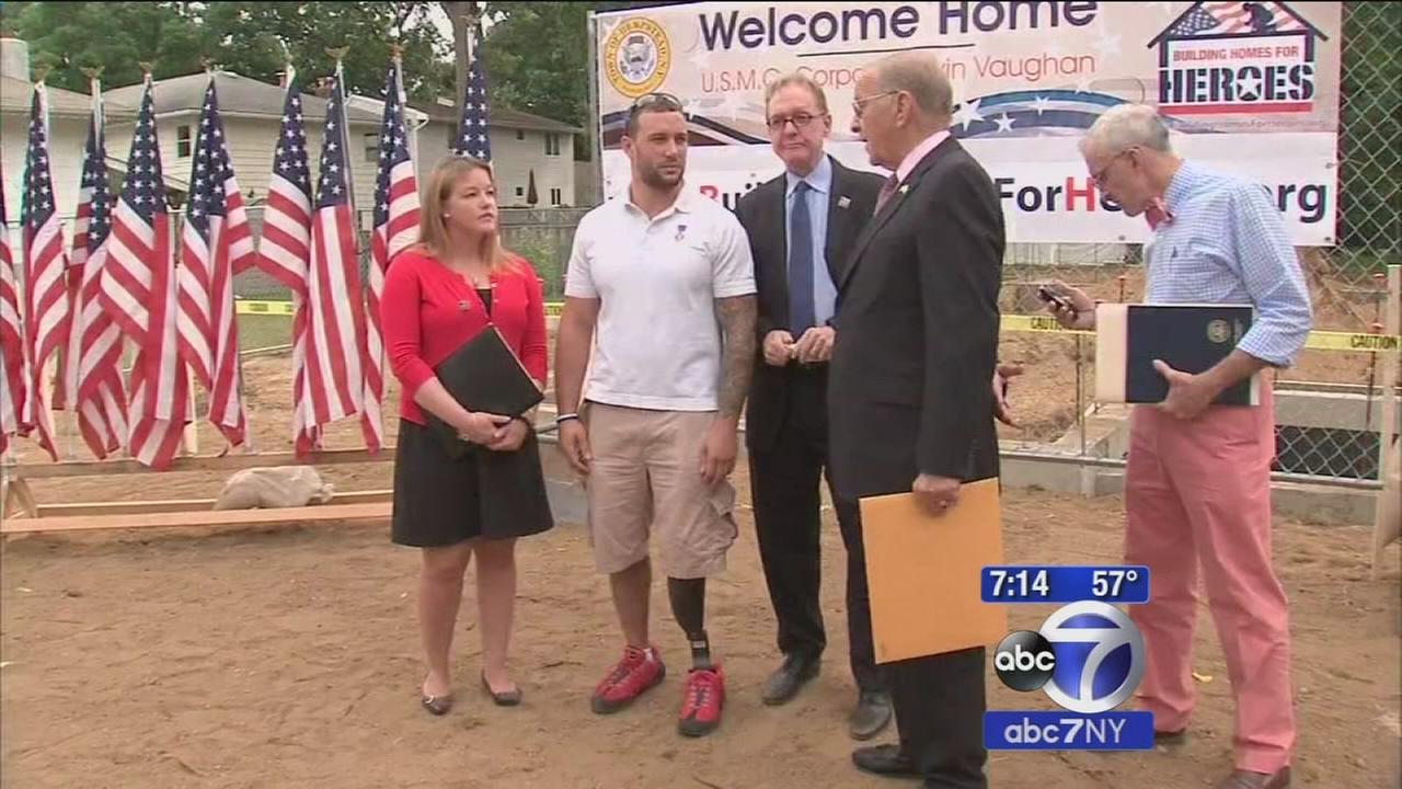 A very special homecoming for wounded Marine on Long Island