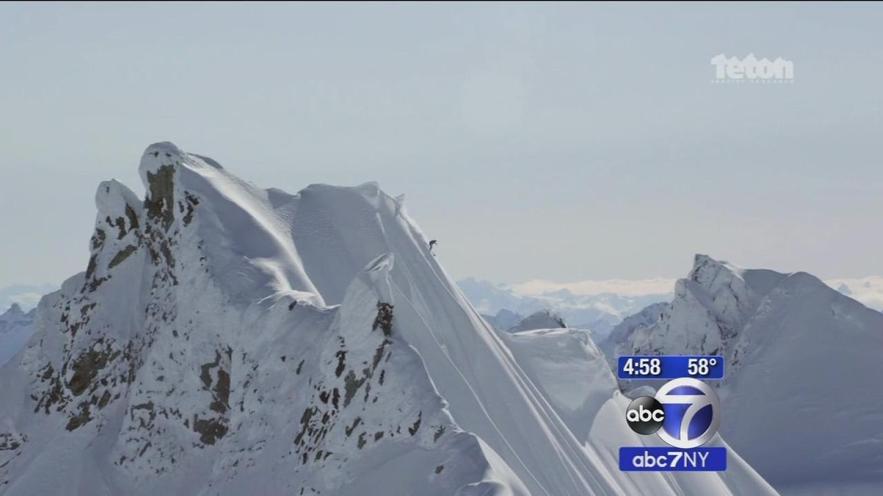 Professional skier falls down mountain