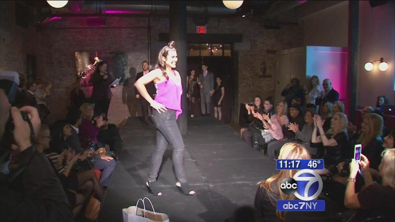 Breast cancer survivors and doctors take part in fashion show