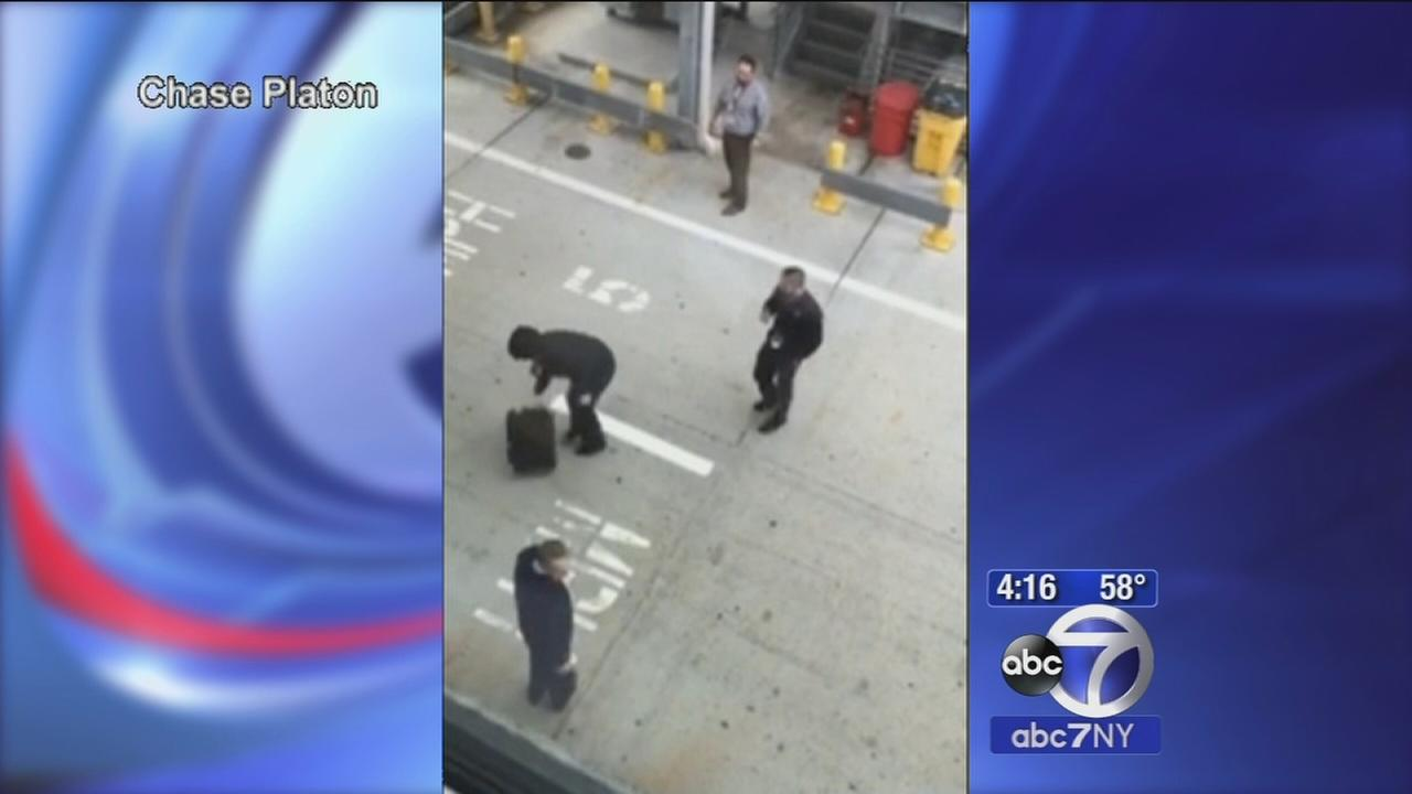 Luggage tossing caught on camera