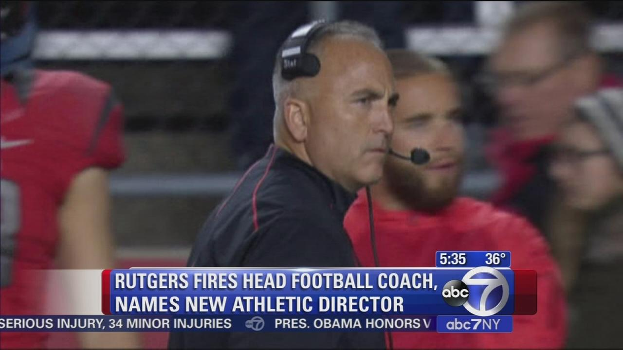 Rutgers fires football coach and AD