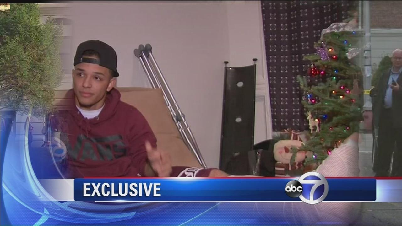 Teen talks about getting shot after fight breaks out near Jersey City school