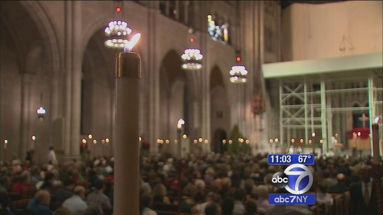 Christmas ushered in with church services